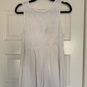 White Mini Dress (Fits like an XS)